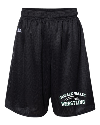 Pascack Valley Wrestling Russell Athletic Tech Shorts - Black - 5KounT2018