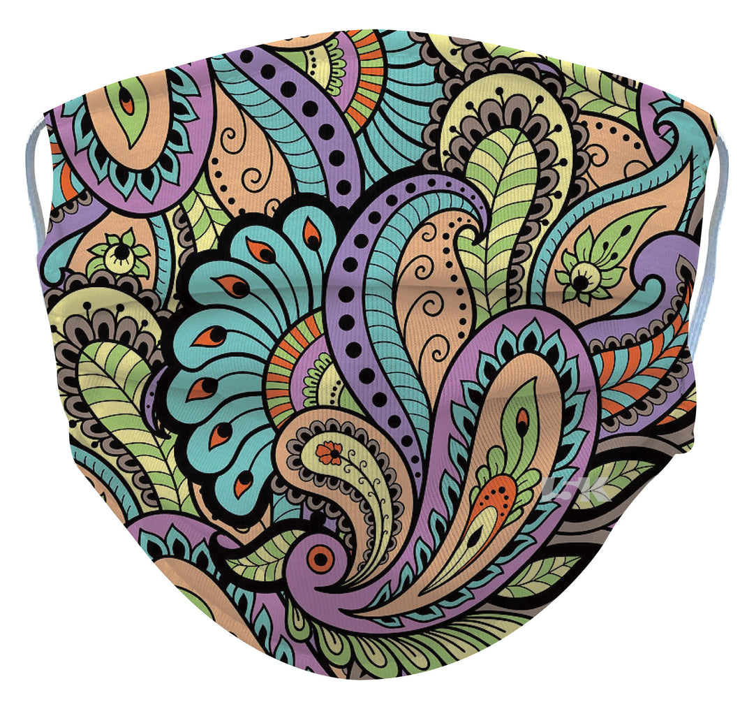 Paisley Reusable Face Mask - 5KounT2018