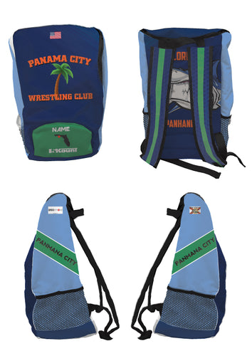 Panama City Wrestling Club Sublimated Backpack - 5KounT2018