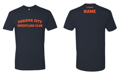 Panama City Wrestling Club Cotton Crew Tee - Navy - 5KounT2018