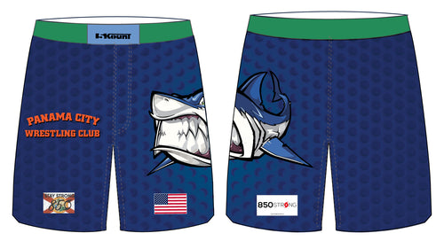 Panama City Wrestling Club Sublimated Fight Shorts - 5KounT2018