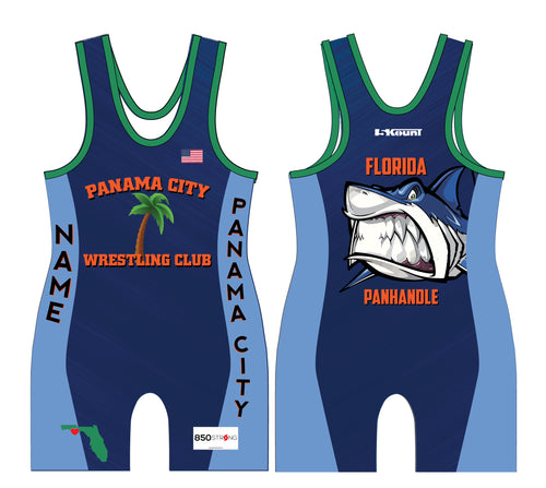 Panama City Wrestling Club Sublimated Singlet - 5KounT2018