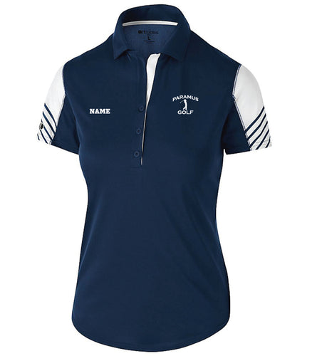 Paramus HS Golf Ladies' Arc Polo - Navy
