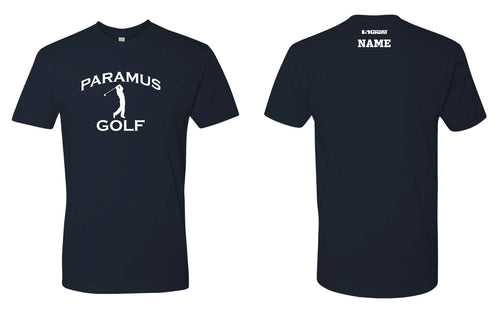 Paramus HS Golf Cotton Crew Tee - Navy