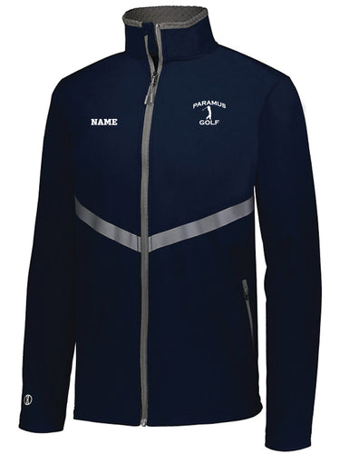 Paramus HS Golf Men's 3D Regulate Soft Shell Jacket - Navy