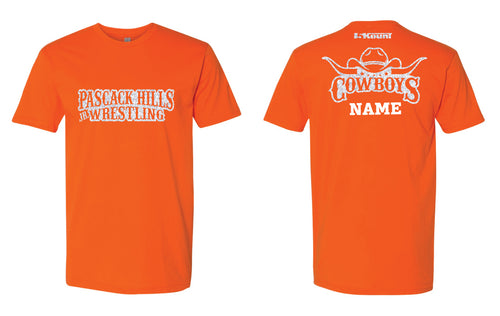 Pascack Hills Cowboys Glitter Cotton Crew Tee - Orange