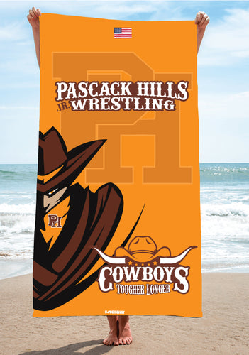 Pascack Hills Cowboys Sublimated Beach Towel