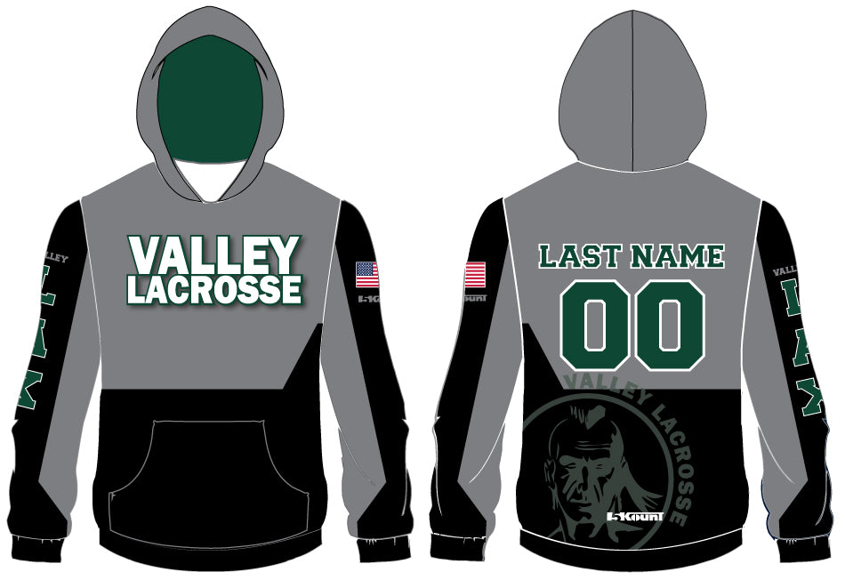 VALLEY LACROSSE SUBLIMATED HOODIE - 5KounT