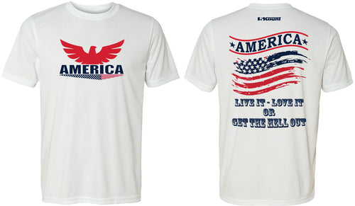 AmericaGear Dryfit Performance Tee - White