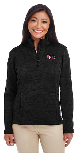 Peak Women's Fleece Quarter Zip - black