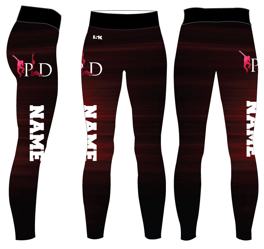 Peak Sublimated Ladies Legging - Name - 5KounT