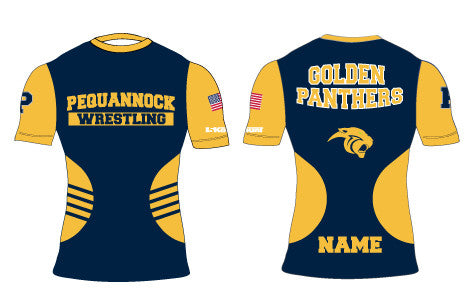 Pequannock Wrestling Sublimated Compression Shirt - 5KounT2018