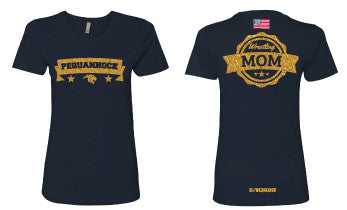 Pequannock Wrestling 2017 Mom Cotton Crew Tee - 5KounT2018