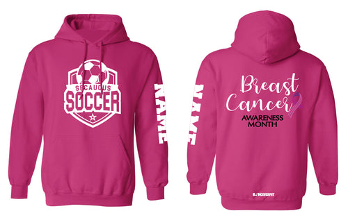 Secaucus Soccer Cotton Hoodie Cancer Awareness - 5KounT2018