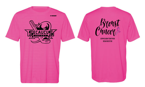 Secaucus Hockey DryFit Performance Tee Cancer Awarness Month -  Sport Charity Pink - 5KounT2018