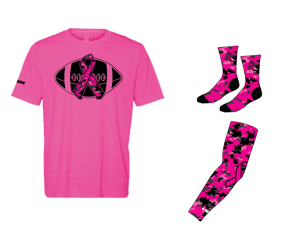 Breast Cancer Awareness Football Player Package