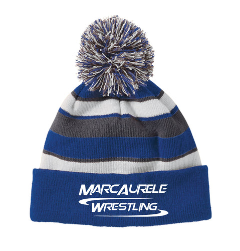 MarcAurele Pom Beanie - Royal / Black