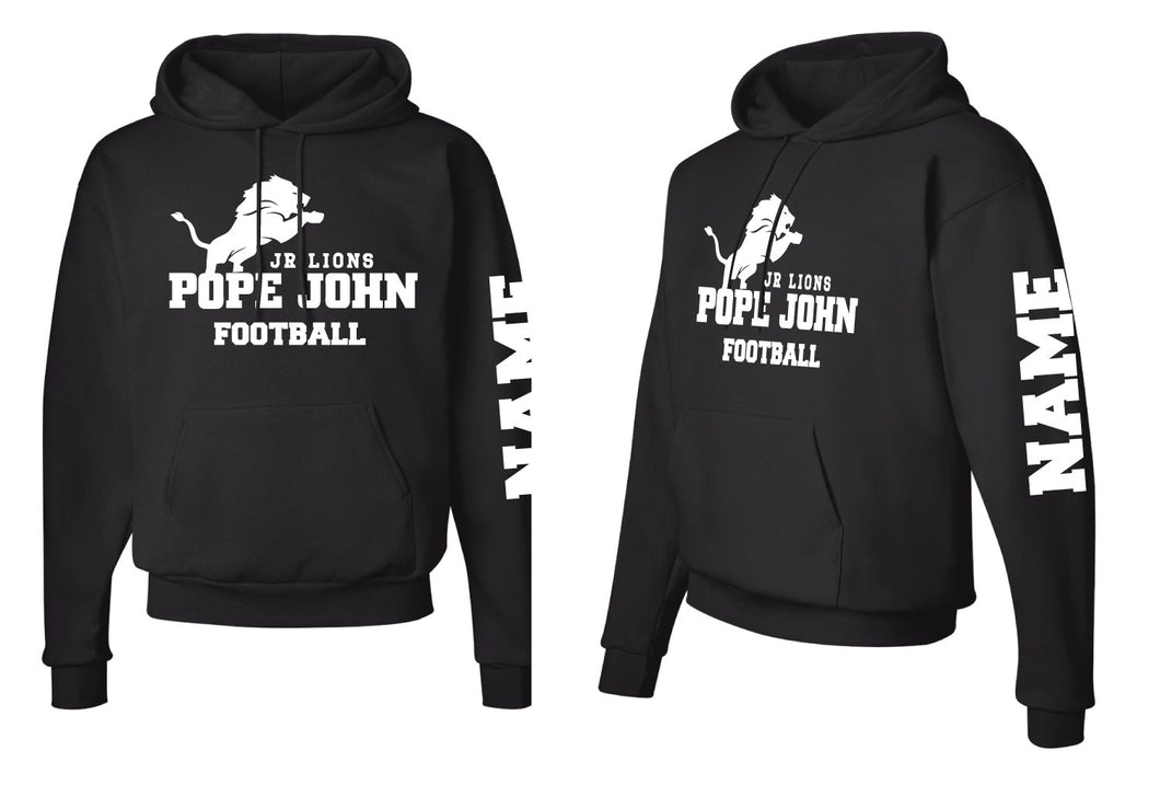 Pope John Jr. Lions Football Cotton Hoodie