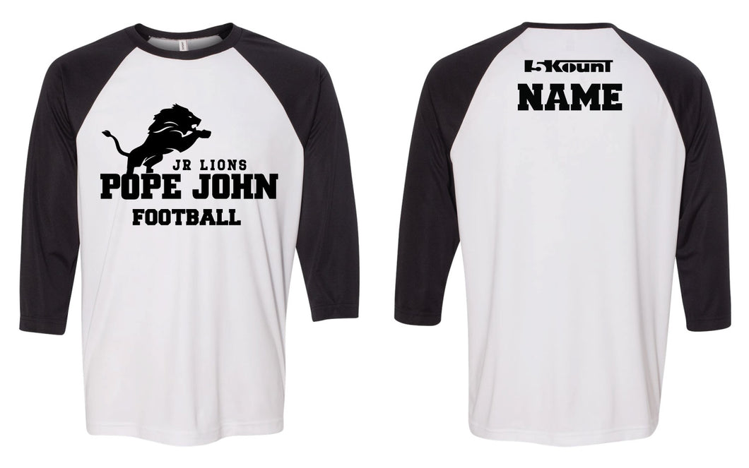 Pope John Jr. Lions Football Baseball Shirt
