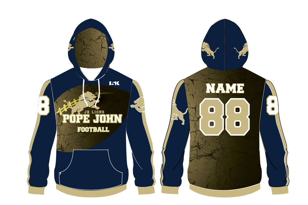 Pope John Jr. Lions Football Sublimated Hoodie