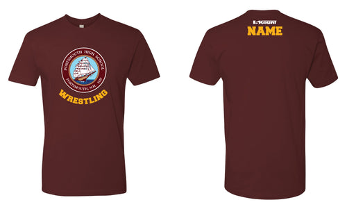 Portsmouth HS Wrestling Cotton Crew Tee - Maroon