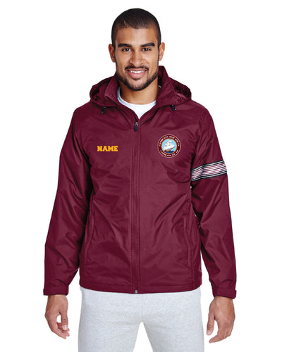Portsmouth HS Wrestling All Season Hooded Jacket - Maroon