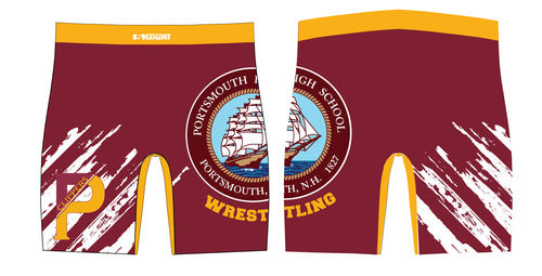 Portsmouth HS Wrestling Sublimated Compression Shorts