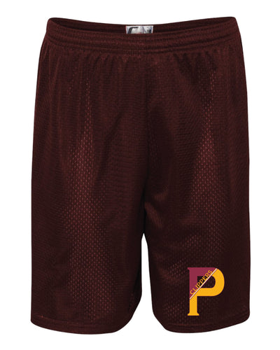 Portsmouth HS Wrestling Tech Shorts - Maroon