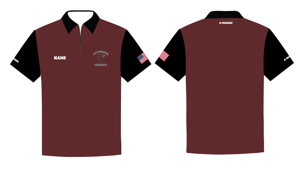 Pottsgrove Falcons Wrestling Sublimated Polo - 5KounT2018