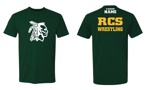 RCS Wrestling Cotton Crew Tee - Forest
