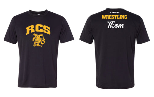 RCS Wrestling DryFit Performance Tee Mom/Dad - Black