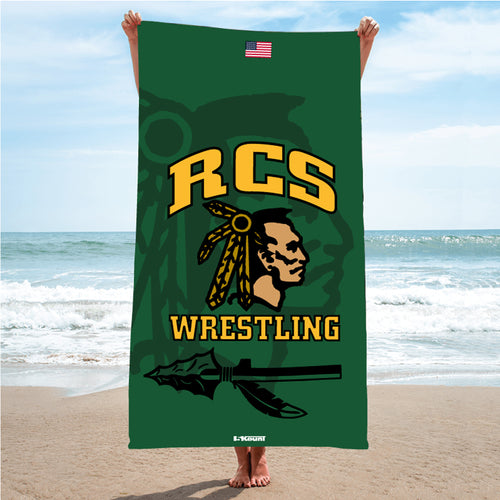RCS Wrestling Sublimated Beach Towel
