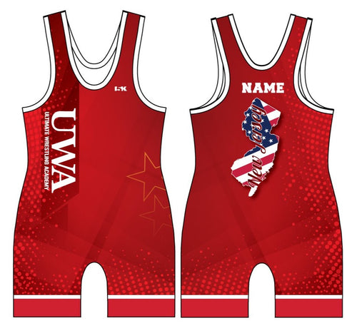 UWA Freestyle Sublimated Singlet-Red/Blue - 5KounT2018