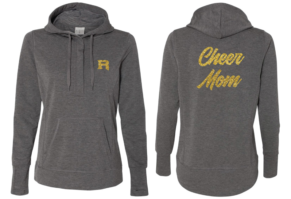 Roxbury Cheer Terry Snap Placket Hooded Pullover