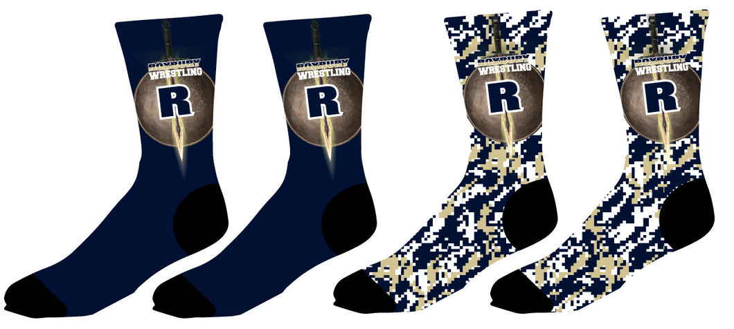 Roxbury Wrestling Sublimated Socks