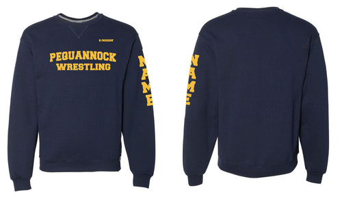 Pequannock Wrestling Russell Athletic Cotton Crewneck Sweatshirt - Navy - 5KounT2018