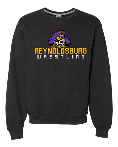 Reynoldsburg Wrestling Russell Athletic Cotton Crewneck Sweatshirt - Black