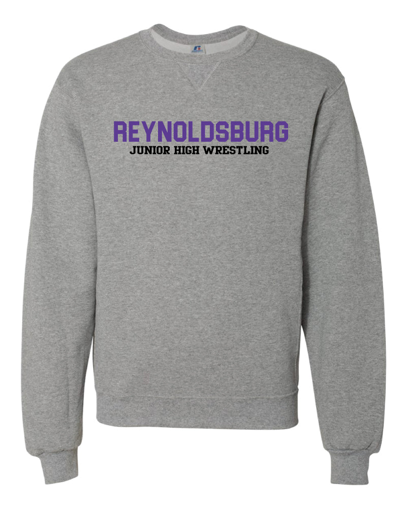 Reynoldsburg Wrestling Russell Athletic Cotton Crewneck Sweatshirt - Heather Gray