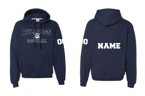 Randolph Football Bulldogs Russell Athletic Cotton Hoodie - Navy - 5KounT