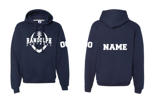 Randolph Football Russell Athletic Cotton Hoodie - Navy - 5KounT