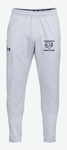Randolph Wrestling Adult Under Armour Fleece Sweatpants - Gray