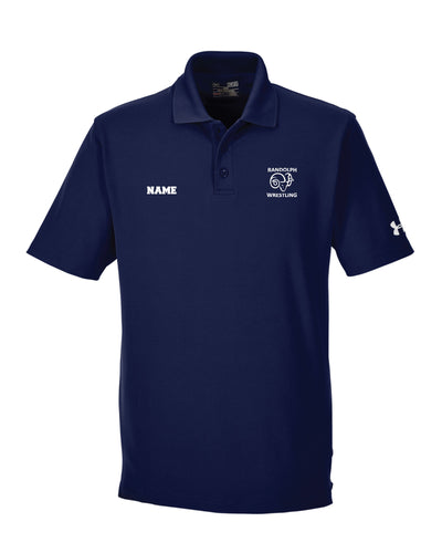 Randolph Wrestling Under Armour Men's Corp Performance Polo - Navy