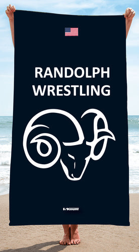 Randolph Wrestling Sublimated Beach Towel
