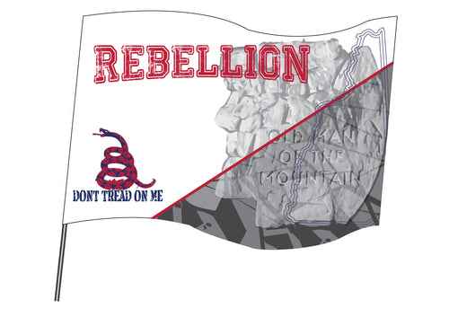 REBELLION Sublimated Flag