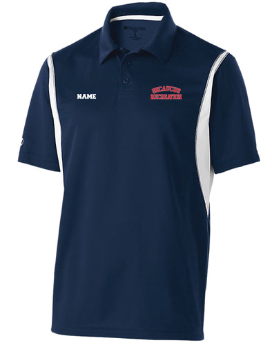 Secaucus Recreation Men's Dryfit Polo - Navy - 5KounT2018
