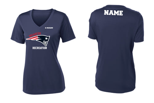 Secaucus Recreation Women's V-Neck Dryfit Tee - Navy - 5KounT2018