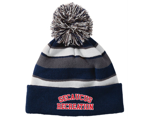 Secaucus Recreation Pom Beanie - Navy - 5KounT2018