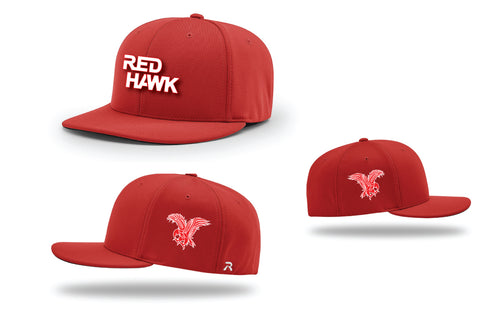 RedHawk Wrestling Club FlexFit Cap - Black/Red