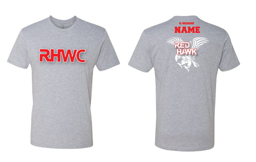 RedHawk Wrestling Club Cotton Crew Tee - Black/Heather Grey - 5KounT2018