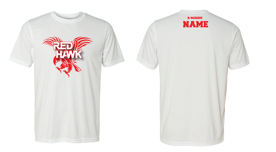 RedHawk Wrestling Club DryFit Performance Tee - White/Black